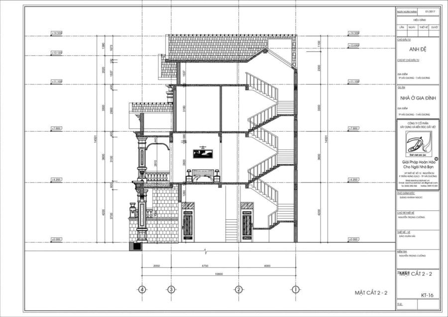 Mẫu biệt thự 3 tầng phong cách tân cổ điển