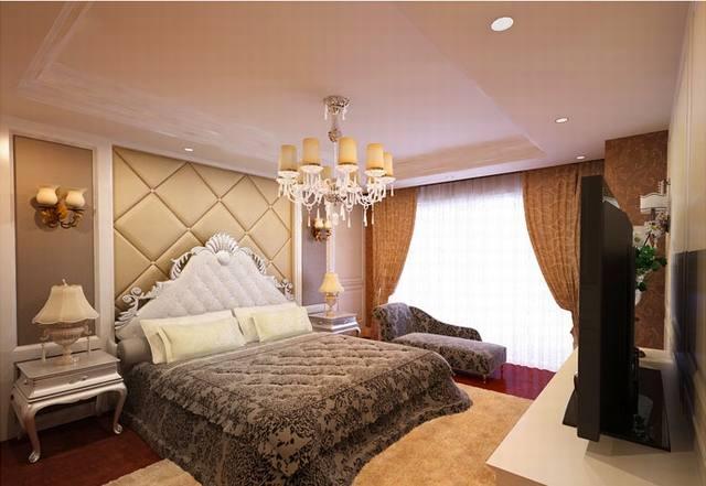 phòng ngủ tân cổ điển biệt thự 3 tầng 15x19m