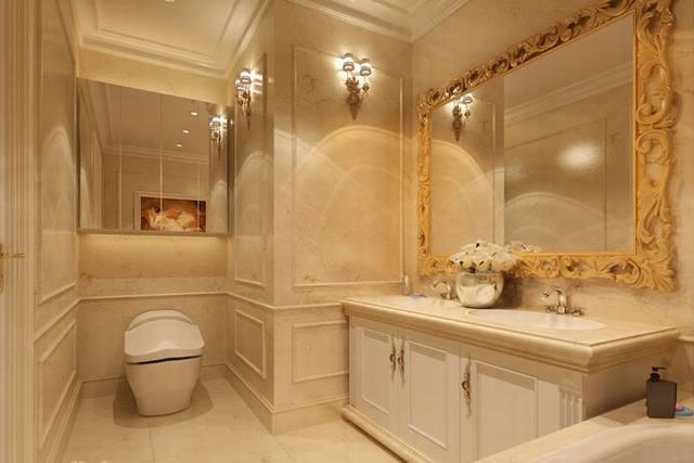 phòng tắm tân cổ điển biệt thự 3 tầng 15x19m