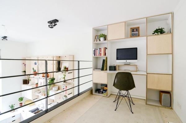 Gác lửng thích hợp để bố trí phòng làm việc hơn phòng ngủ
