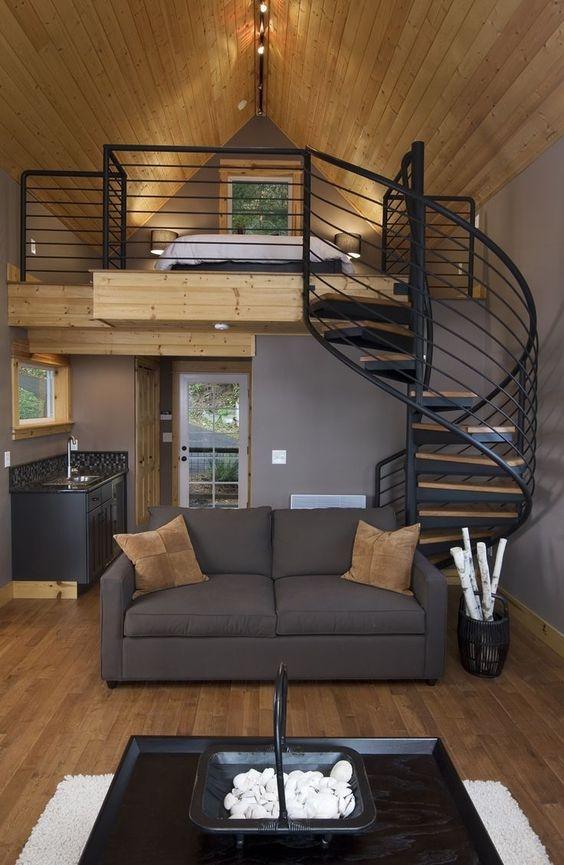 Nhà cấp 4 có gác lửng 4x16 sở hữu màu sắc và nội thất đơn giản