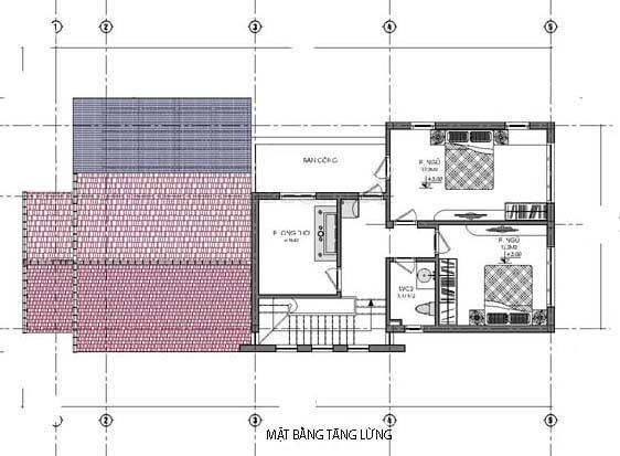 nhà ống cấp 4 3 phòng ngủ