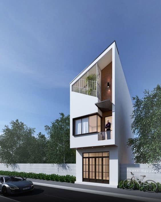 nhà phố kiến trúc hiện đại