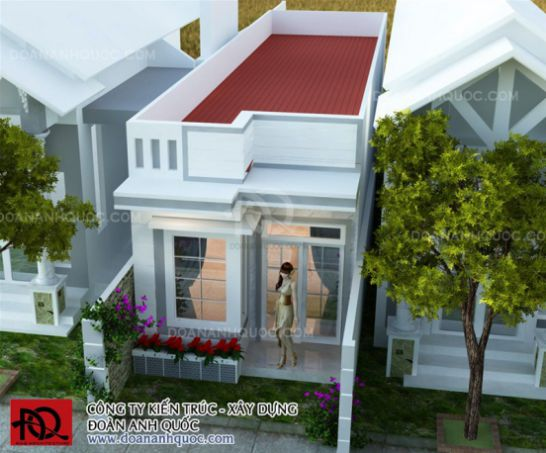mẫu thiết kế nhà cấp 4 diện tích 4×15