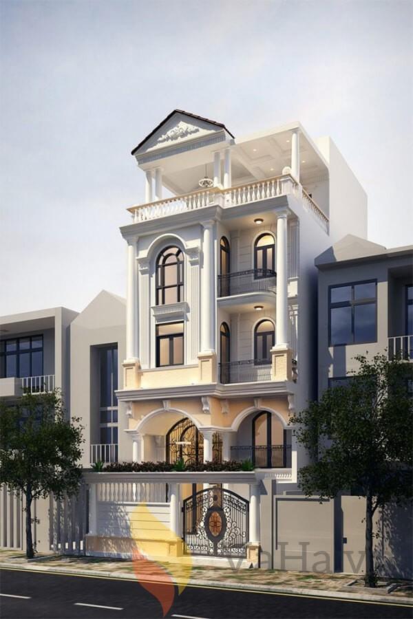 Biệt thự 4 tầng sang trọng, có diện tích 6x10m rộng rãi