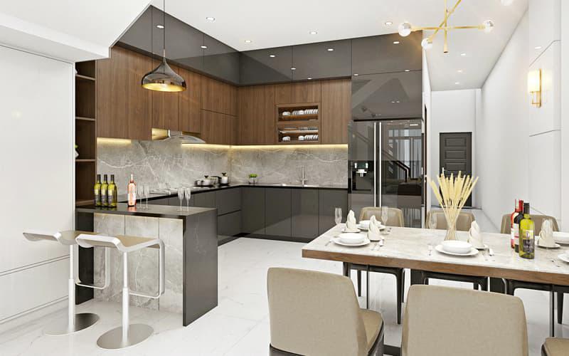 trang trí nội thất bếp nhà phố