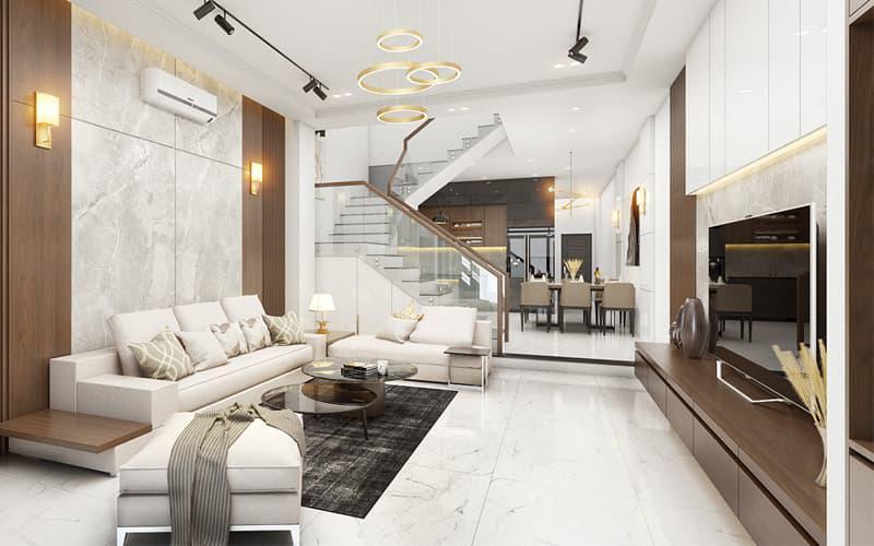 Trang trí nội thất nhà phố 5 tầng 4x10